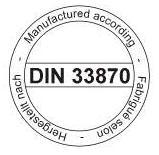 Normkonforme Herstellung nach DIN-33870